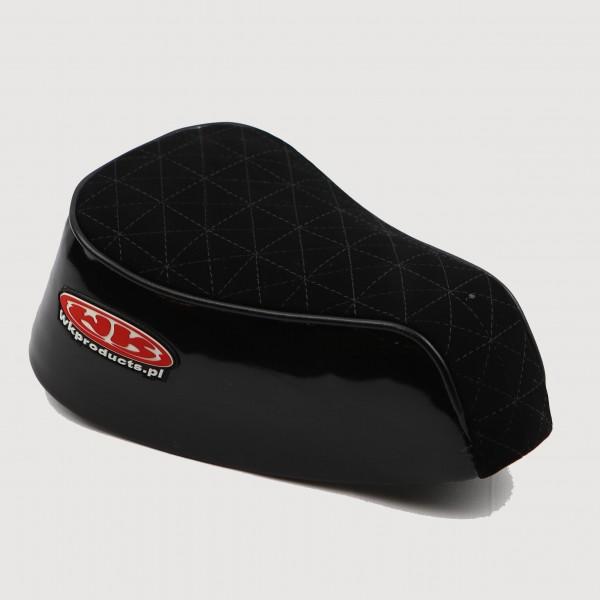 Speedway Sitz Oberfläche weich abgenäht 7 cm hoch schwarz